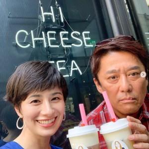 「インスタ映えしてるかな?」とホラン千秋(画像は『ホラン千秋 official 2019年8月20日付Instagram「『バイキング』のロケで坂上さんとチーズティー飲んだよ」』のスクリーンショット)