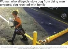 【海外発!Breaking News】散歩中の飼い主が発作を起こした隙に、犬を盗んだ女(米)