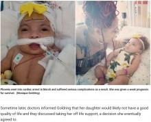 【海外発!Breaking News】生後7か月で「余命6時間」と宣告された女児、もうすぐ1歳に(米)