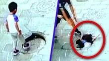 【海外発!Breaking News】壊れたマンホール蓋を踏んでしまった3歳男児が転落(中国)<動画あり>