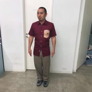 「胸ポケットにダイヤがあった服」を着た大悟(画像は『千鳥ノブ 2019年8月20日付Instagram「今年のトレンド×大悟。」』のスクリーンショット)