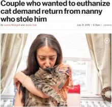 【海外発!Breaking News】ベビーシッター先で「猫が安楽死させられてしまう…」 逮捕覚悟で連れ去った女性(米)