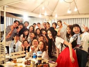 集まった『王様のブランチ』メンバー(画像は『佐藤栞里 2019年8月20日付Instagram「ブランチメンバーでバーベキュー」』のスクリーンショット)