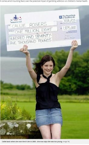 【海外発!Breaking News】16歳で宝くじに高額当選した女性 「人生が狂ってしまった。購入年齢を18歳以上に」と訴え(英)