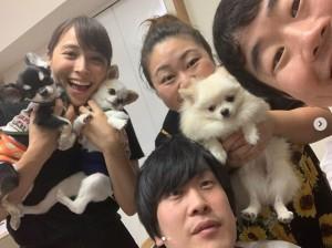 やしろ優の自宅を訪れた広瀬アリス(画像は『やしろ優 2019年8月2日付Instagram「おうちにアリスちゃんが子どもたちを連れて来てくれましたぁ」』のスクリーンショット)