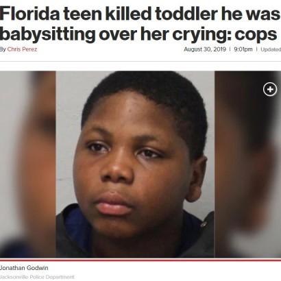 【海外発!Breaking News】ベビーシッターの14歳少年、泣き止まない3歳女児に暴行し死亡させる(米)
