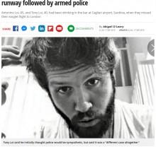 【海外発!Breaking News】「まるでコメディ」乗り遅れた飛行機を追って走る親子を警察が追う(伊)