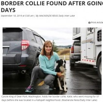 【海外発!Breaking News】仕事を辞めて行方不明の愛犬を捜し続けた飼い主 57日後に感動の再会(米)<動画あり>