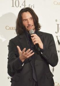映画『ジョン・ウィック:パラベラム』ジャパンプレミアに登壇したキアヌ・リーブス