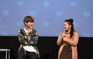 『ブスの瞳に恋してる 2019~The Voice~』トークショーに出席したNAOTOと富田望生