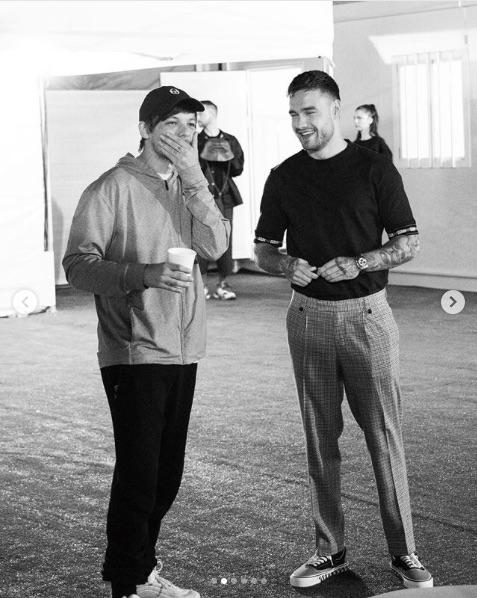 談笑するルイ&リアム(画像は『Liam Payne 2019年9月14日付Instagram「L is for...」』のスクリーンショット)