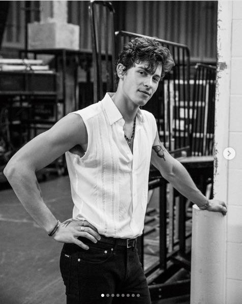 地元トロント公演で感極まったショーン(画像は『Shawn Mendes 2019年8月11日付Instagram「New Jersey night 1」』のスクリーンショット)