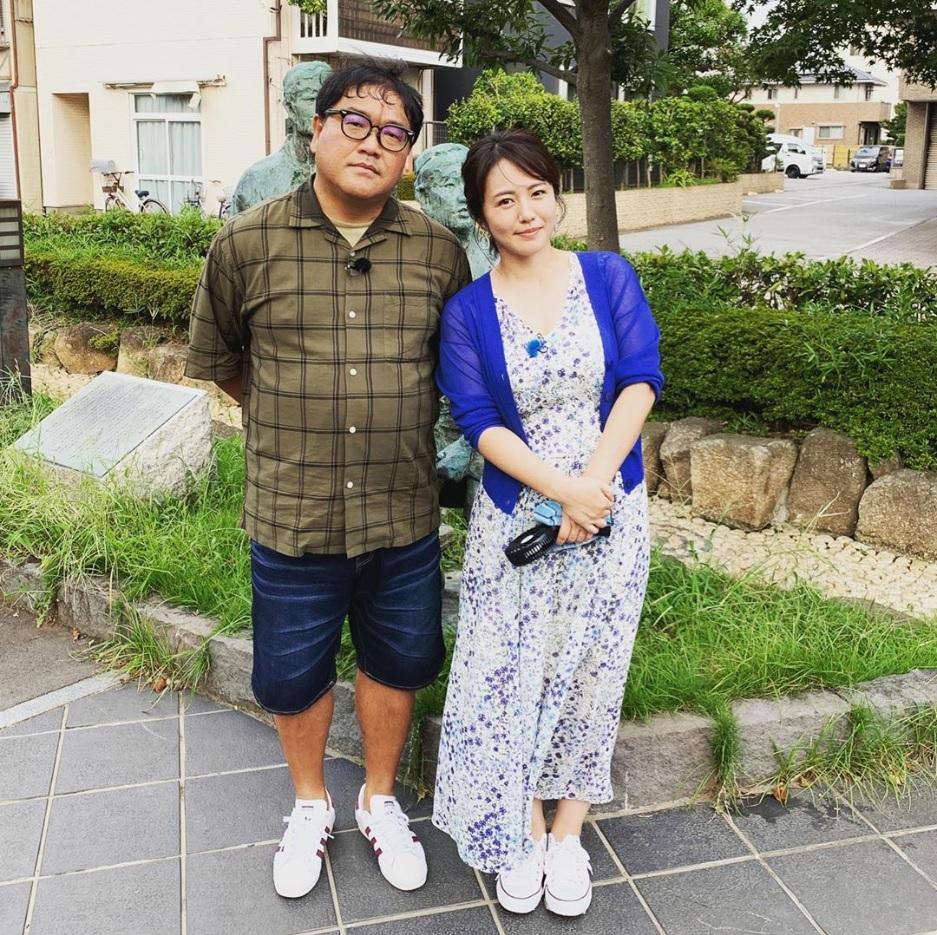 「ご夫婦」でも違和感のないカンニング竹山&磯山さやか(画像は『有吉弘行 2019年9月10日付Instagram「ご夫婦。」』のスクリーンショット)