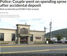 【海外発!Breaking News】銀行の手違いで振り込まれた1,200万円超を2週間半で使い果たした夫婦(米)