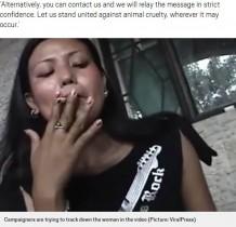 【海外発!Breaking News】悪魔の所業 子犬の目に煙草を押し付ける女 動画販売目的の組織的犯罪か