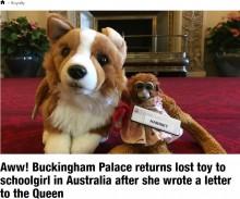 【海外発!Breaking News】英バッキンガム宮殿で失くしたサルのおもちゃ、オーストラリアに無事届く<動画あり>
