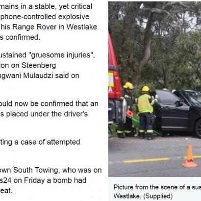 【海外発!Breaking News】運転中に座席が爆発、ドライバーが重傷(南ア)