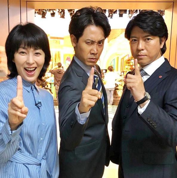 松たか子、大泉洋、上川隆也(画像は『日曜劇場「ノーサイド・ゲーム」 2019年7月7日付Instagram「いよいよ!あと1時間」』のスクリーンショット)