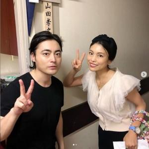 山田孝之の舞台を観劇したSAYUKI(画像は『SAYUKI 2019年9月17日付Instagram「ミュージカル #ペテン師と詐欺師 観てきました。」』のスクリーンショット)