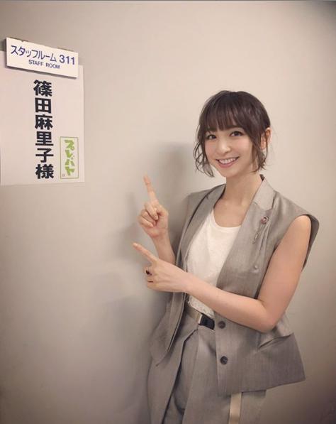 『プレバト!!』に出演した篠田麻里子(画像は『篠田麻里子 2019年9月12日付Instagram「「プレバト!!」」』のスクリーンショット)