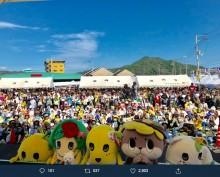 【エンタがビタミン♪】しんじょう君 『ご当地キャラ祭りin須崎』で募った千葉台風災害義援金を届ける