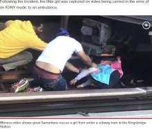 【海外発!Breaking News】NY地下鉄駅で父親が娘を抱えて電車に飛び込み即死 娘は奇跡的に軽傷<動画あり>