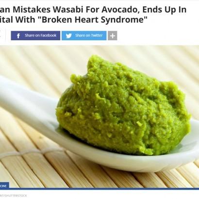 【海外発!Breaking News】わさびをアボカドと間違えて食べた60歳女性 たこつぼ心筋症に(イスラエル)