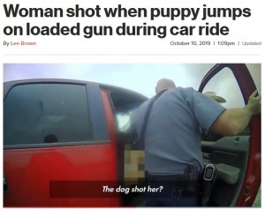 【海外発!Breaking News】「犬が銃を発砲?」 緊急通報オペレーターも驚くまさかの事故(米)