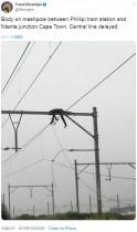 【海外発!Breaking News】ケーブル泥棒が感電死 架線柱で黒焦げの遺体が見つかる(南ア)