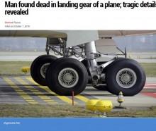 【海外発!Breaking News】ギニアからの密航者が死亡 車輪格納庫からぶら下がったまま着陸(モロッコ)