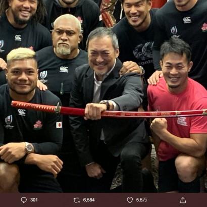【エンタがビタミン♪】ラグビーW杯「日本-南ア」前日、渡辺謙が日本代表を激励 福岡堅樹「本当に勇気をいただきました!」