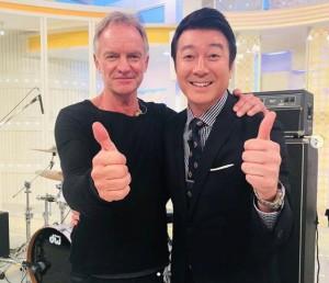 スティングと加藤浩次(画像は『Universal Music Japan 洋楽 2019年10月9日付Instagram「今朝のスッキリ出演の #スティング はご覧いただけましたか?」』のスクリーンショット)