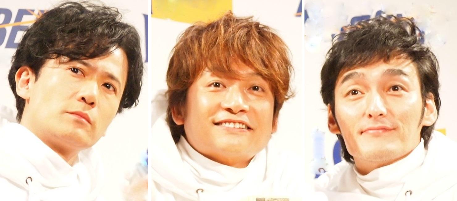稲垣吾郎、香取慎吾、草なぎ剛 3人を見てSMAPに思いを馳せるファンも多く