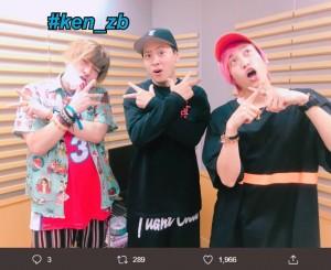 ラジオ番組出演時のEXITと山下健二郎(画像は『山下健二郎のZERO BASE 2019年10月18日付Twitter「【今夜24時から】」』のスクリーンショット)