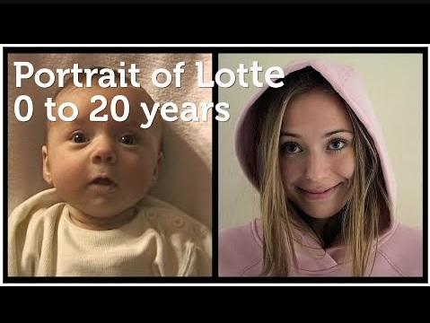 誕生から20歳になった娘を撮り続けて(画像は『Hofmeester 2019年10月28日公開 YouTube「Portrait of Lotte, 0 to 20 years」』のサムネイル)