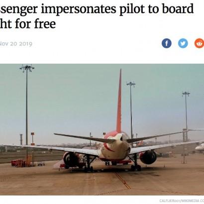 【海外発!Breaking News】パイロットに成りすまし15回以上も無料で飛行機に搭乗していた男を逮捕(印)