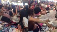 【海外発!Breaking News】露店で中古のブランドドレスを激しく奪い合う客「まるで野生化したよう」(フィリピン)<動画あり>