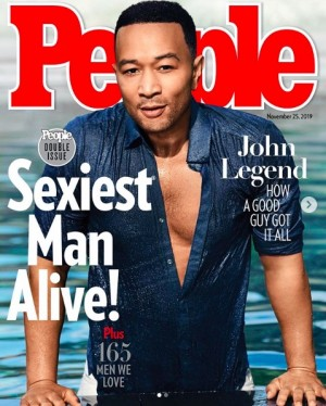 """【イタすぎるセレブ達】ジョン・レジェンド『People』が選ぶ""""最もセクシーな男性""""に 妻クリッシー・テイゲンも自慢げにツイート"""