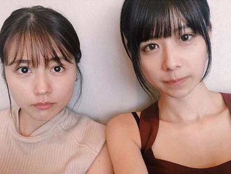 有村架純と有村藍里(画像は『Airi Arimura 有村藍里 2019年8月25日付Instagram「真顔の妹と真顔が出来なかった姉です。」』のスクリーンショット)