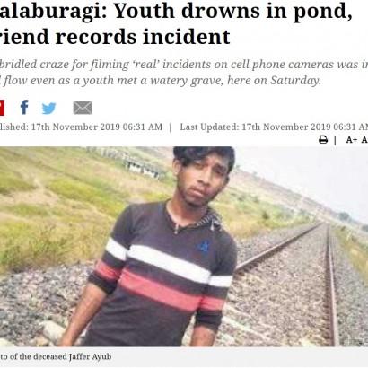 【海外発!Breaking News】池で溺れて亡くなった男性、友人らは助けることなくスマホで動画撮影(印)<動画あり>