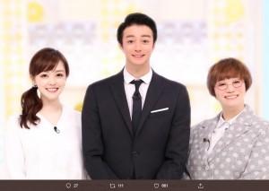 Matt自らが加工したスッキリMC陣(画像は『日本テレビ スッキリ 2019年11月26日付Twitter「スッキリMC陣が、話題の #Matt化」』のスクリーンショット)