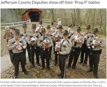 【海外発!Breaking News】米ミズーリ州保安官事務所でベビーラッシュ 17人の赤ちゃんが誕生