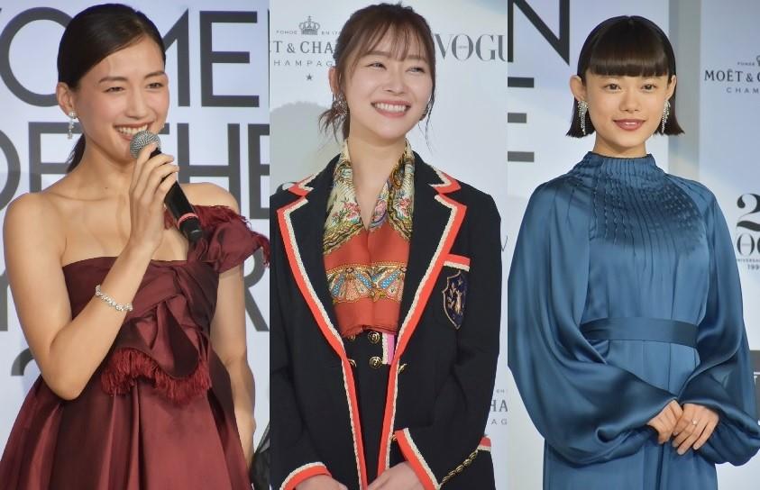 受賞に笑顔の綾瀬はるか、指原莉乃、杉咲花