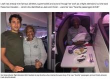 【海外発!Breaking News】88歳の女性にファーストクラスの席を譲った男性に称賛集まる