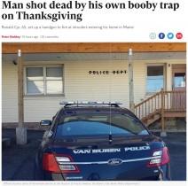 【海外発!Breaking News】防犯用拳銃の罠に仕掛けた本人が被弾、死亡する(米)
