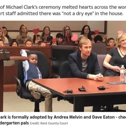 【海外発!Breaking News】5歳男児の養子縁組聴聞会で、幼稚園のクラスメートが応援に集まる(米)<動画あり>