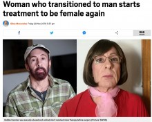 【海外発!Breaking News】「また女性に戻りたい」女性から男性に性転換したトランスジェンダーの後悔(英)