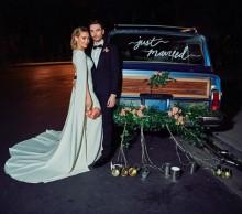 【イタすぎるセレブ達】ヒラリー・ダフがウェディングドレス姿を披露 プロポーズ秘話も