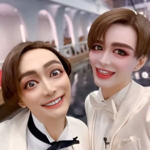 KattとMattの2ショット(画像は『香取慎吾 2019年12月3日付Instagram「#katt と #matt」』のスクリーンショット)