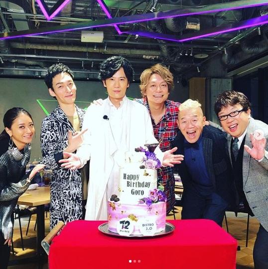 稲垣吾郎の誕生日をお祝い(画像は『香取慎吾 2019年12月2日付Instagram「月に一度の #ななにー」』のスクリーンショット)